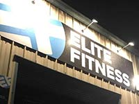 The front of elite fitness gym in pontllanfraith, blackwood, south wales.